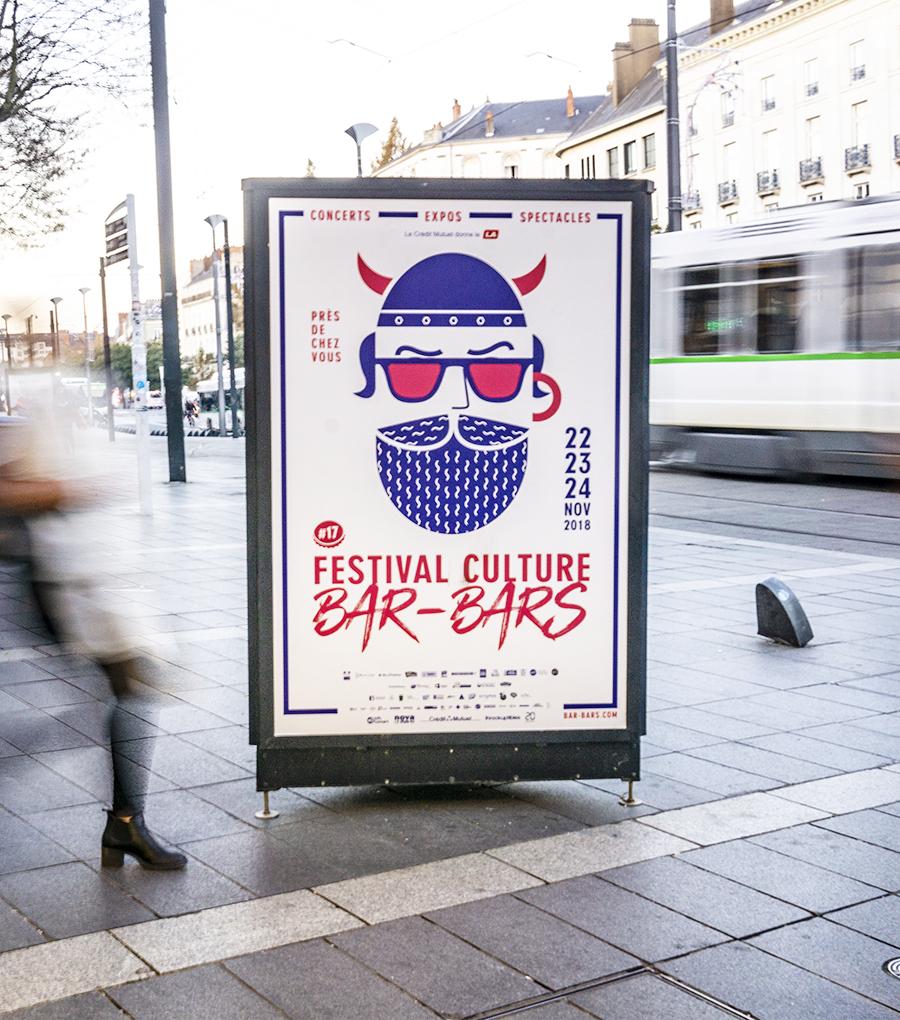 Bar-Bars - affiche - illustration - Graphiste Rennes Pyxel