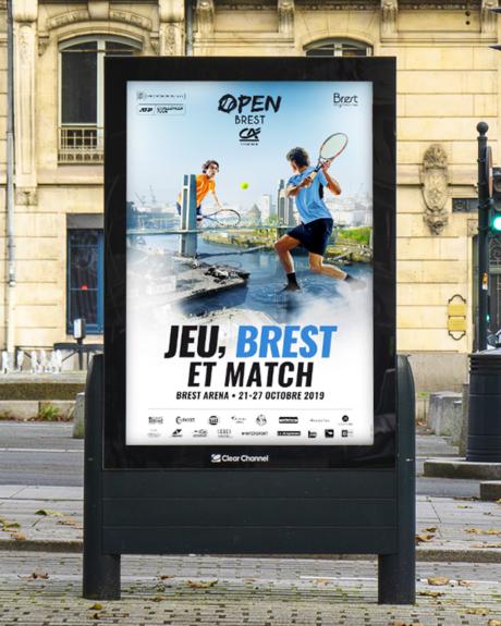 Affiche graphiste Rennes - Open de Brest - PYXEL