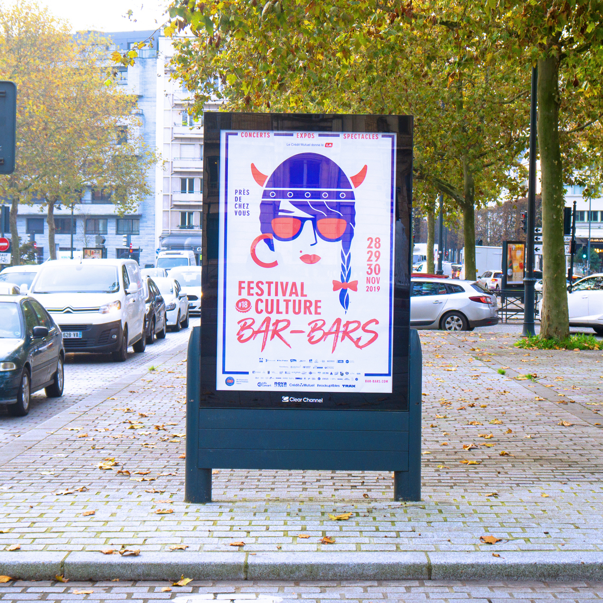 Affiche Festival graphiste Rennes - Culture Bar-Bars - PYXEL