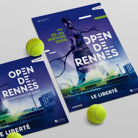 Open de Rennes - identité visuelle - PYXEL, Graphiste Rennes